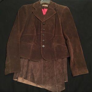 i.e. Suede Brown Blazer and Skirt